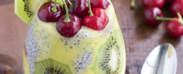 Kiwi Mango Cherry Chia Seed Pudding3