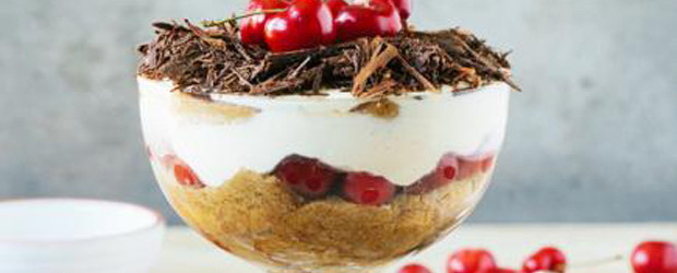 Light and super delicious Cherry Tiramisu