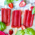 Refreshing Strawberry + Basil Ice Pops
