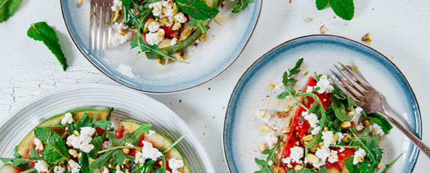 "Grilled Watermelon Salad ""Pizza""2"