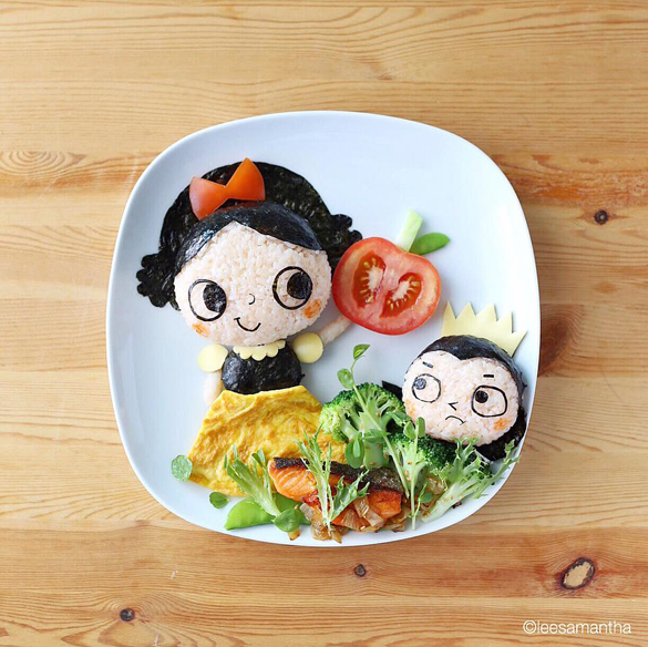 Who's the fairest of them all, food art by Samantha Lee