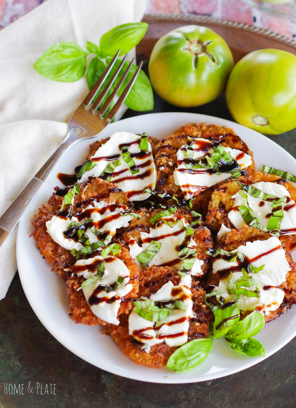 Panko and Parmesan Crusted Fried Green Tomatoes