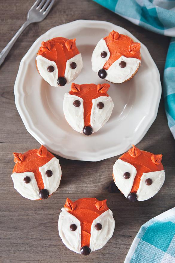 Five Minute Fox Cupcakes