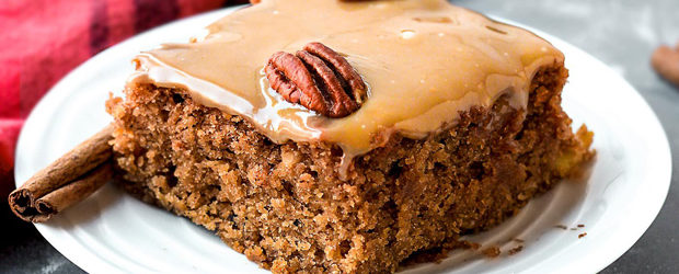 Moist Chai Applesauce Cake