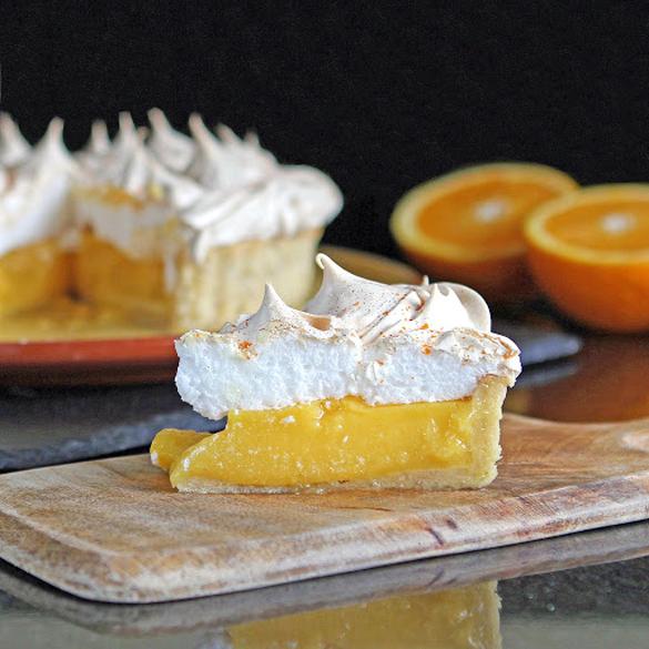 Orange & Lime Meringue Pie with Lime & Walnut Pastry (gluten free)