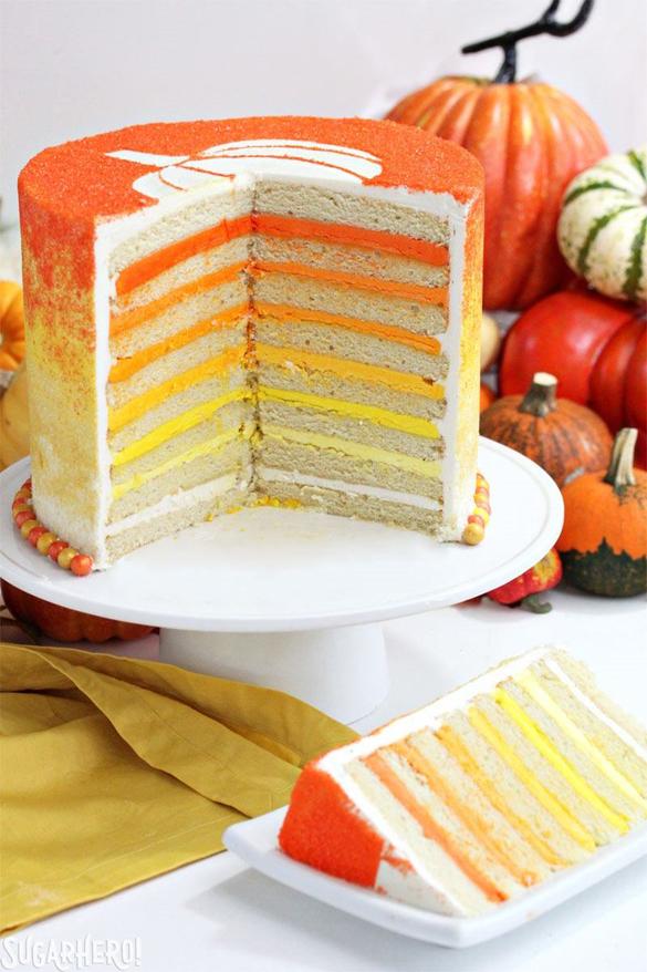 Stenciled Halloween Sprinkle Cake
