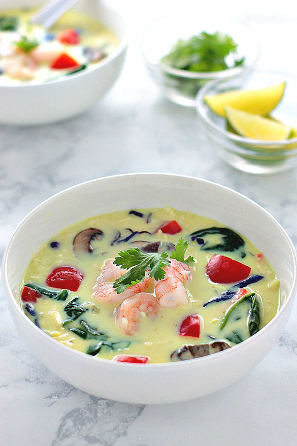 Thai Curry Soup with Shrimp