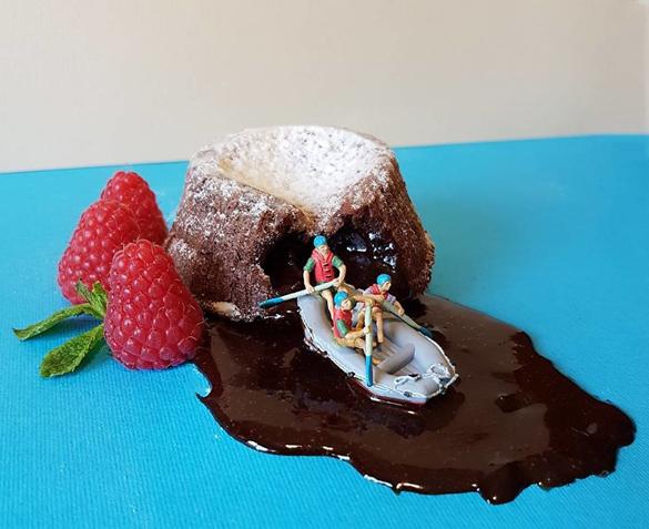 Matteo Stucchi creates miniature worlds with desserts