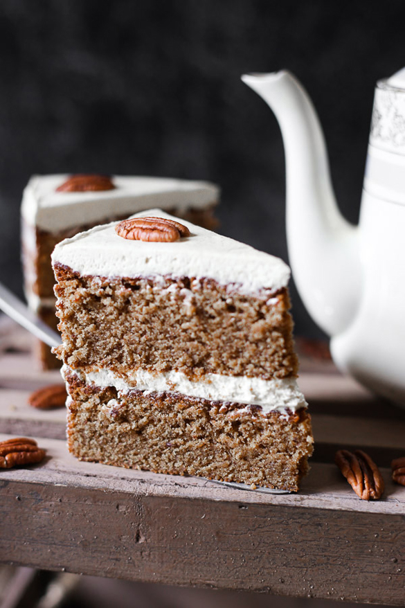 Pecan Butterscotch Latte Cake - fancy-edibles.com