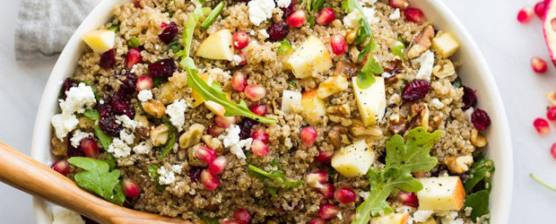 Pomegranate Arugula Quinoa Salad