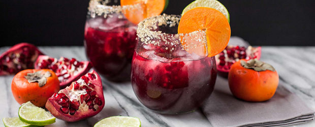 Pomegranate Vanilla Bean Margaritas