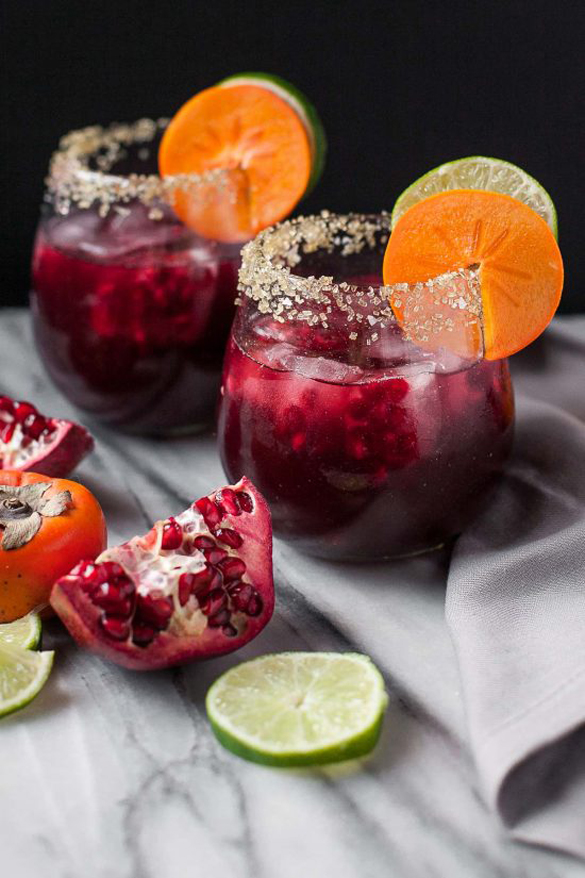 Pomegranate Vanilla Bean Margaritas