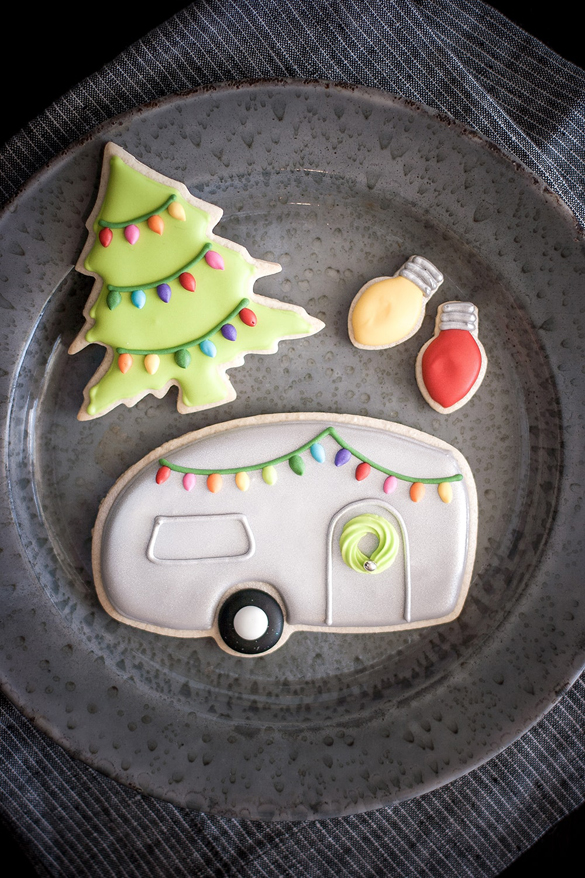 Airstream Camper Christmas Cookies