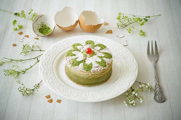 Matcha magic cake