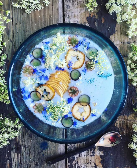 Foodie concocts coconut milk bowls that are vibrant works of edible art