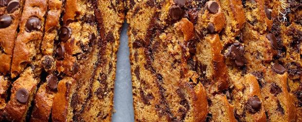 Nutella Chocolate Chip Pumpkin Bread