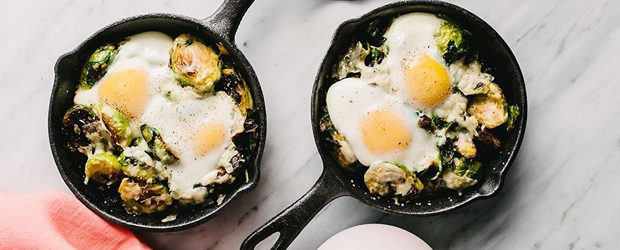 Baked Eggs with Winter Vegetables