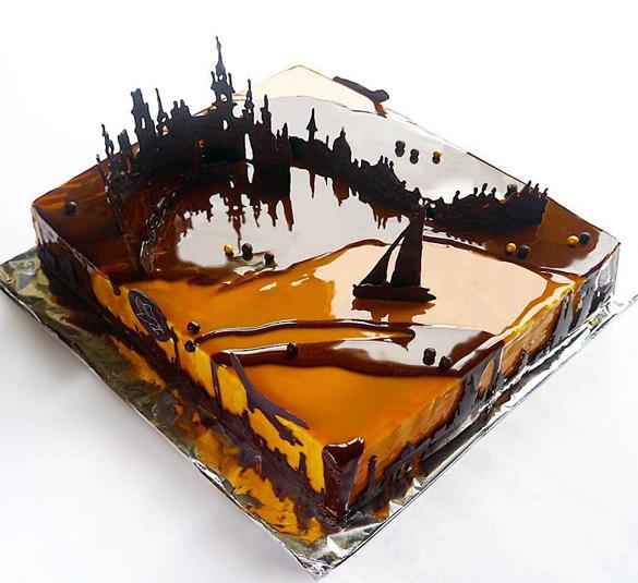 Panda Kitchen Miami: Chocolate Worlds On The Mirror Glaze Cakes By Marie