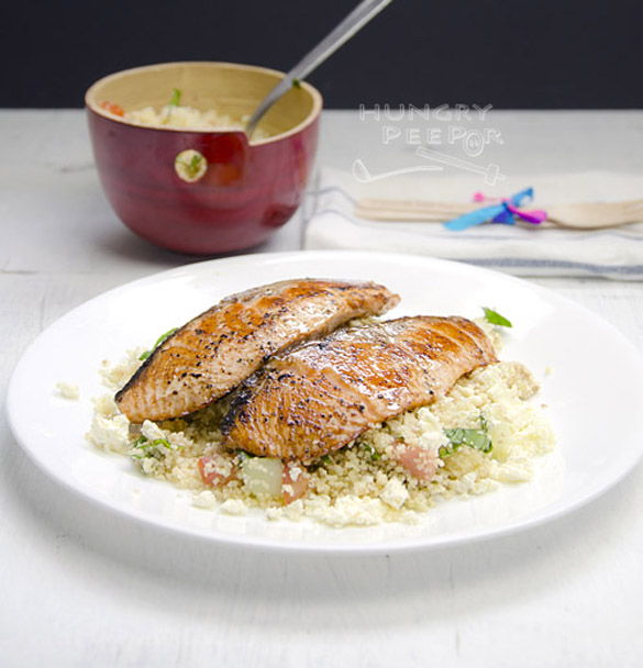 Simple Pan-Fried Salmon With Couscous Salad
