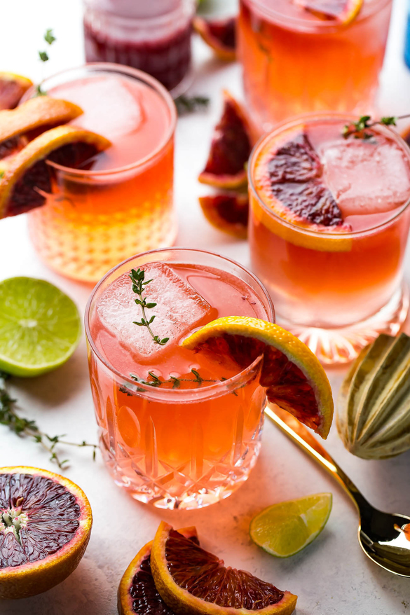 Blood Orange Gin and Tonics