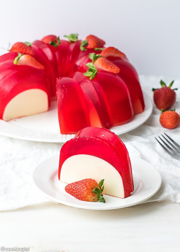 Milk Strawberry Jell-O Mold Bundt Recipe