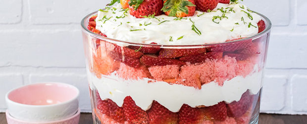 Strawberry Key Lime Cheesecake Trifle