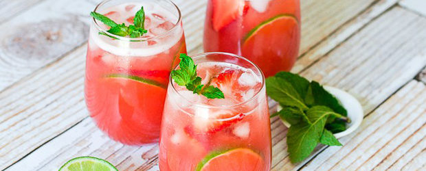 Strawberry-Lime Agua Fresca