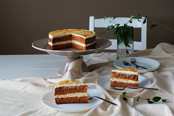 Honey Spice Cake with Honey Caramel Cream Cheese Frosting