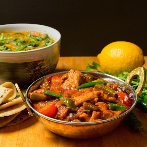 Indian restaurant chicken jalfrezi