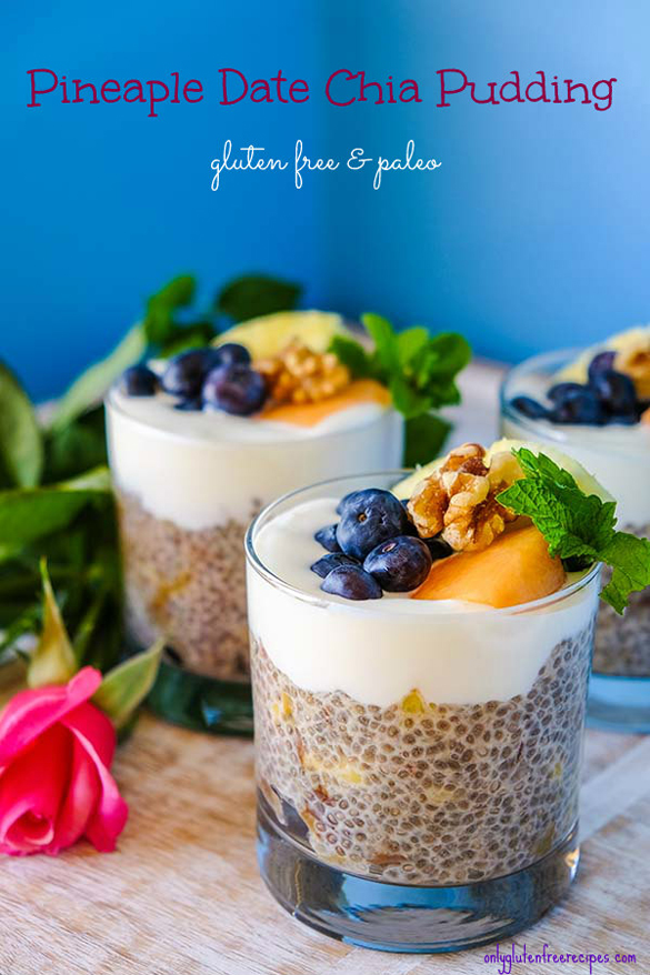 Pineapple Date Chia Pudding