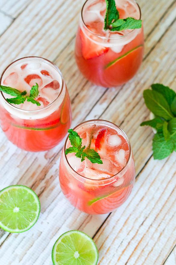 Strawberry-Lime Agua Fresca