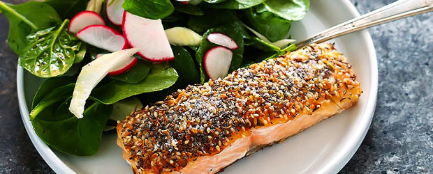 """Everything"" Crusted Salmon"