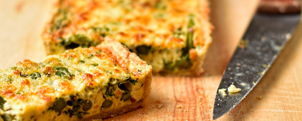 Asparagus, broad bean and Spring herb tart