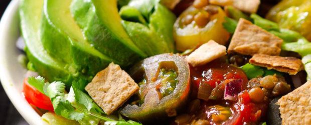 Vegan Taco Salad with Lentils