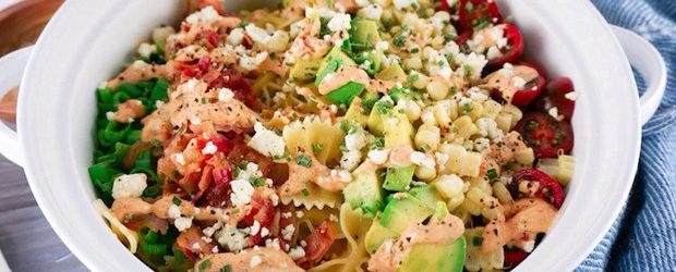 Easy Bacon Avocado Summer Pasta Salad1