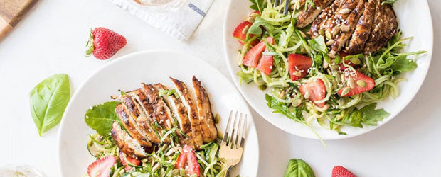Grilled Balsamic Chicken with Strawberry Cucumber Salad (Summer Grilling Series) - Copy