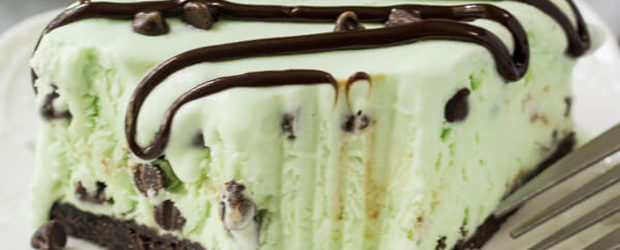 No Churn Mint Chip Ice Cream Cake