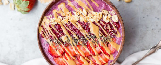 Peanut Butter & Jelly Smoothie Bowl (Gluten Free + Vegan)