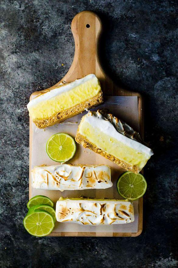 Creamy Frozen Margarita Pie Slice with a Pretzel Crust