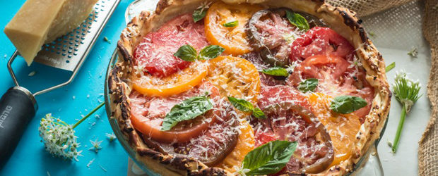 Heirloom Tomato Bocconcini Pie1
