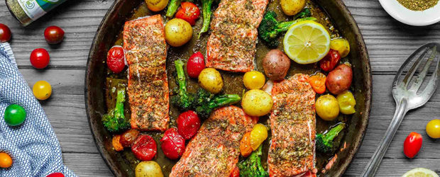 Za'atar Garlic Salmon Recipe