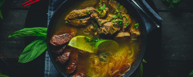 Bún bò Huế Spicy Beef and Pork Vietnamese Soup