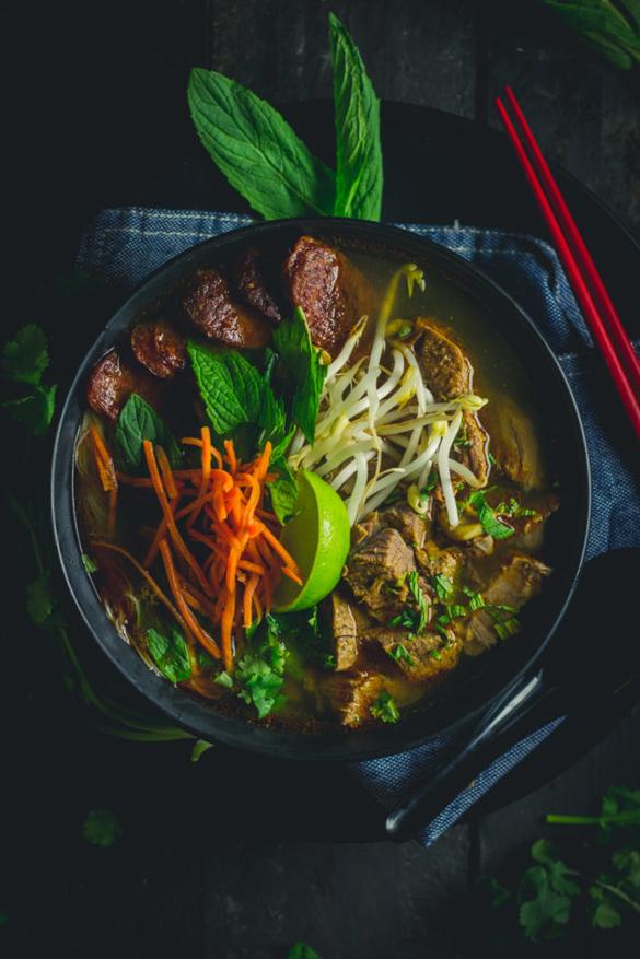 Bún bò Huế Spicy Beef and Pork Vietnamese Soup