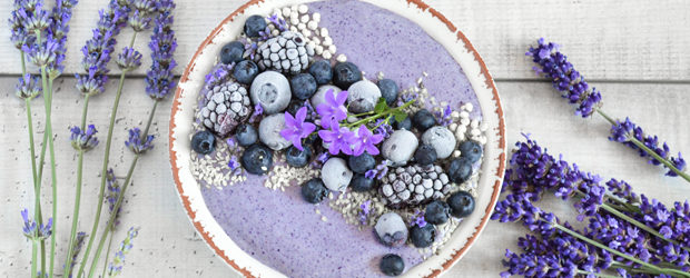 Creamy blueberry smoothie