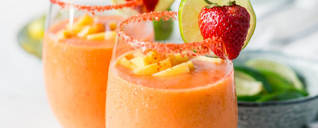 Strawberry Mango Frozen Margaritas