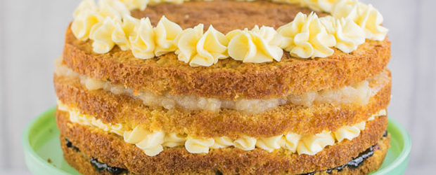 Apple, Jam & Custard Cake4