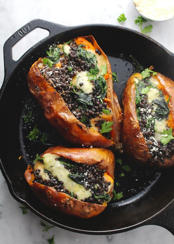 Best Ever Vegetarian Loaded Sweet Potatoes