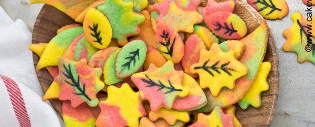 Easy Fall Cookies (Leaf Cookies)