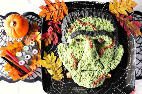 Freaky Frankenstein Rice Cereal Halloween Treat