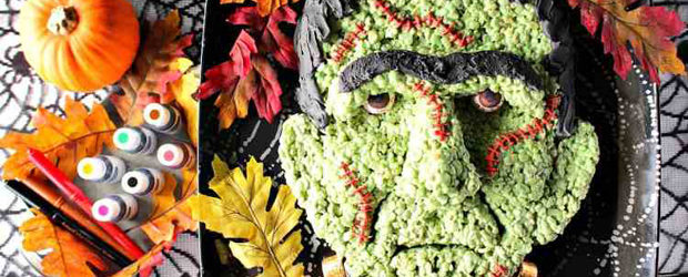 Freaky Frankenstein Rice Cereal Halloween Treat